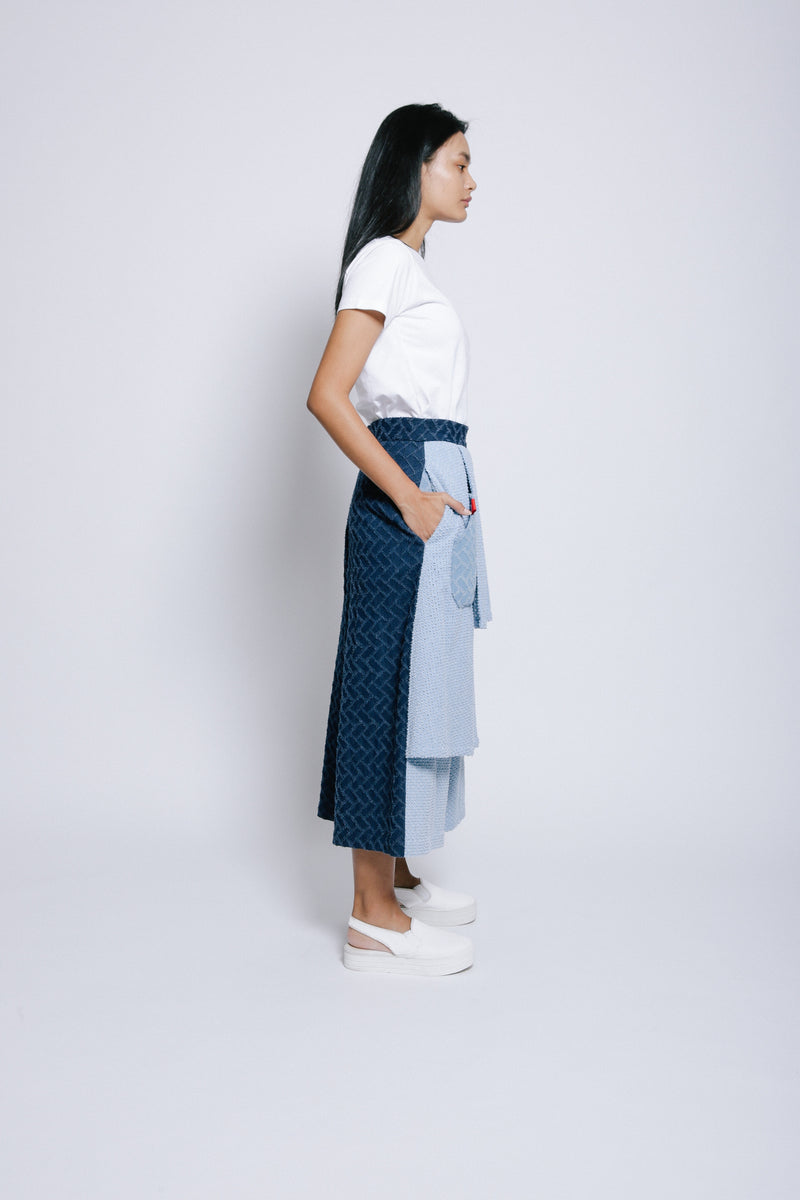 S14 LP01A || DENIM TROUSERS WITH PLEATS