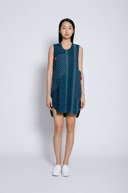 S14 DD03 || PANELLED DENIM DRESS