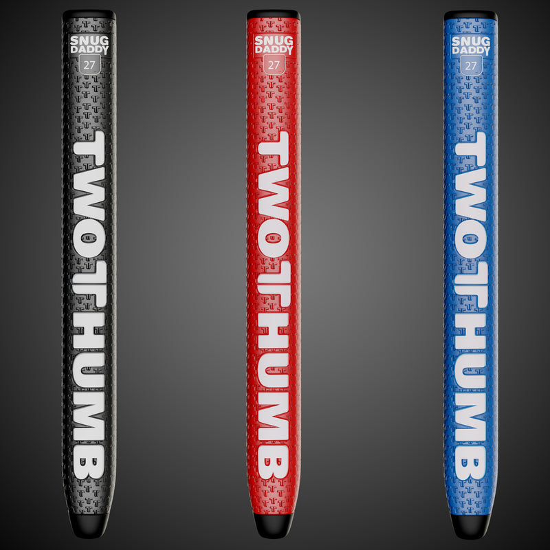 The Snug Daddy TwoThumb tour proven putter grips are used by World top 50 golfer Bernd Wiesberger. Our golf putter grips reduce grip pressure, reduce grip twist, reduce wrist tension and improve consistent alignment. Play TwoThumb sink more putts