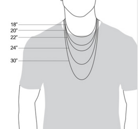 Men's Necklace Sizing Guide