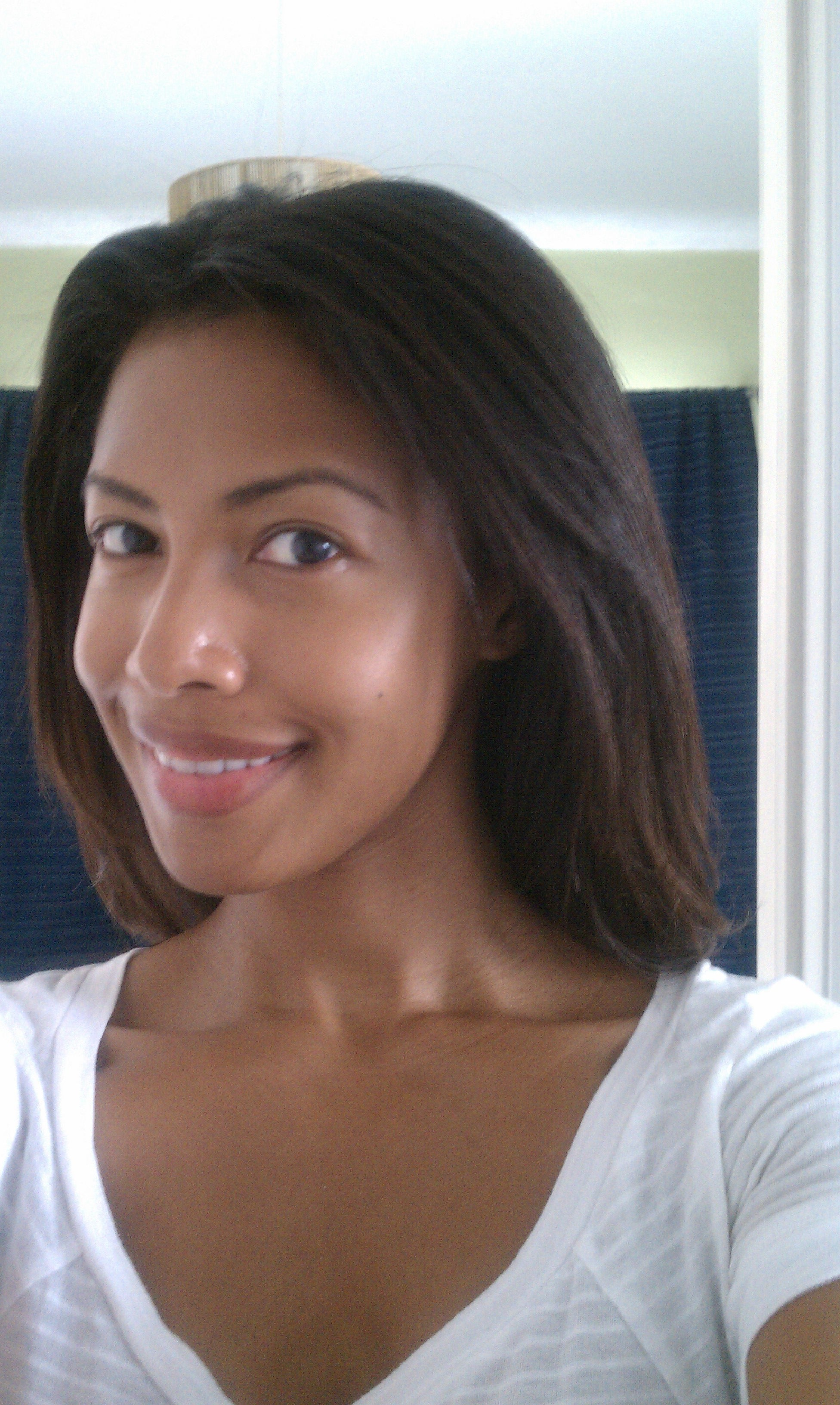 Hair after deep conditioning recipe on A GIrl's Gotta Spa! #haircare