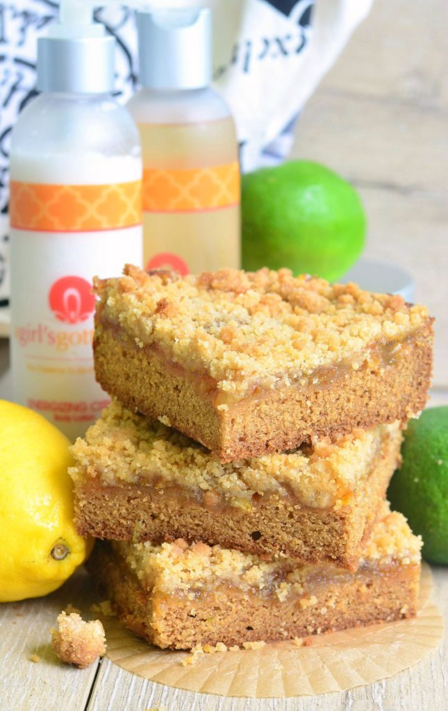 Citrus Crumble Cookie Bars Recipe from @willcook4smiles using ingredients inspired by @agirlsgottaspa Energizing Citrus scent