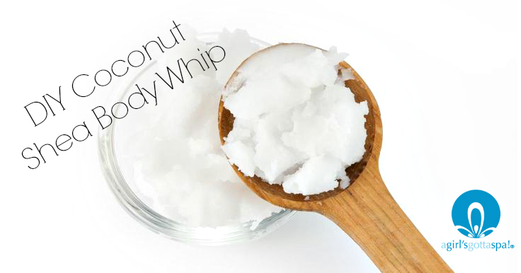 DIY Coconut shea body whip recipe via @agirlsgottaspa