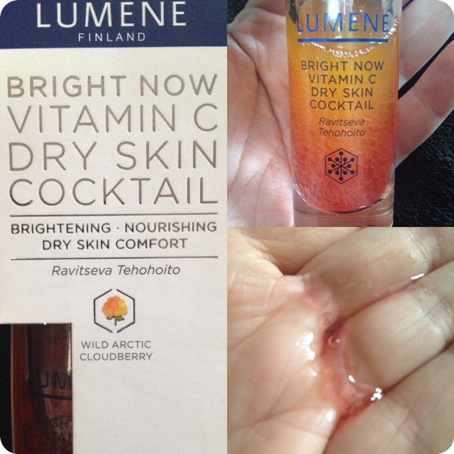Lumene Bright Now Vitamin C Cocktail #serum #review #skincare