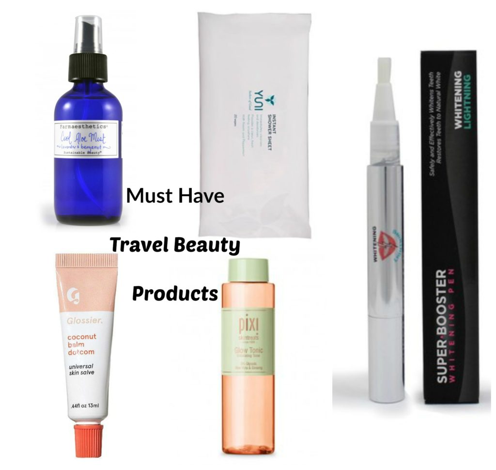 Must-have airplane friendly beauty products via @agirlsgottaspa