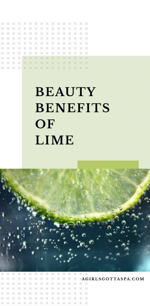 beauty benefits of lime image for pinterest