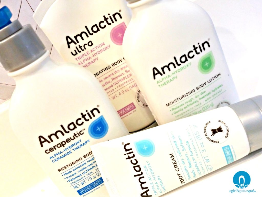Sponsored by AmLactin: Review of AmLactin Skin Care products for those with dry skin via @agirlsgottaspa