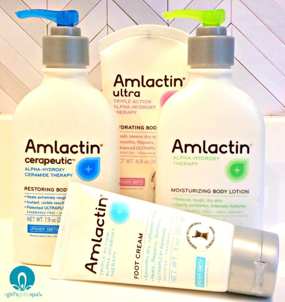 Sponsored by AmLactin: Dry skin care solutions via @agirlsgottaspa