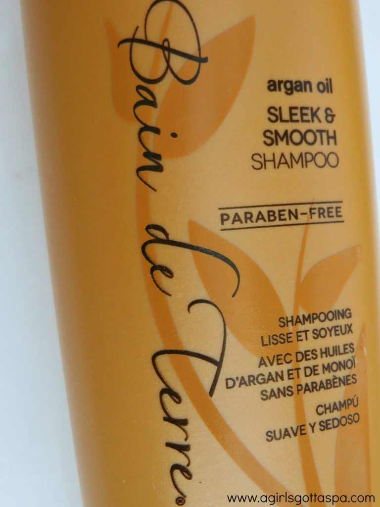 Bain de Terre Sleek & Smooth Shampoo and Conditioner #review #haircare #antifrizz #arganoil #monoi