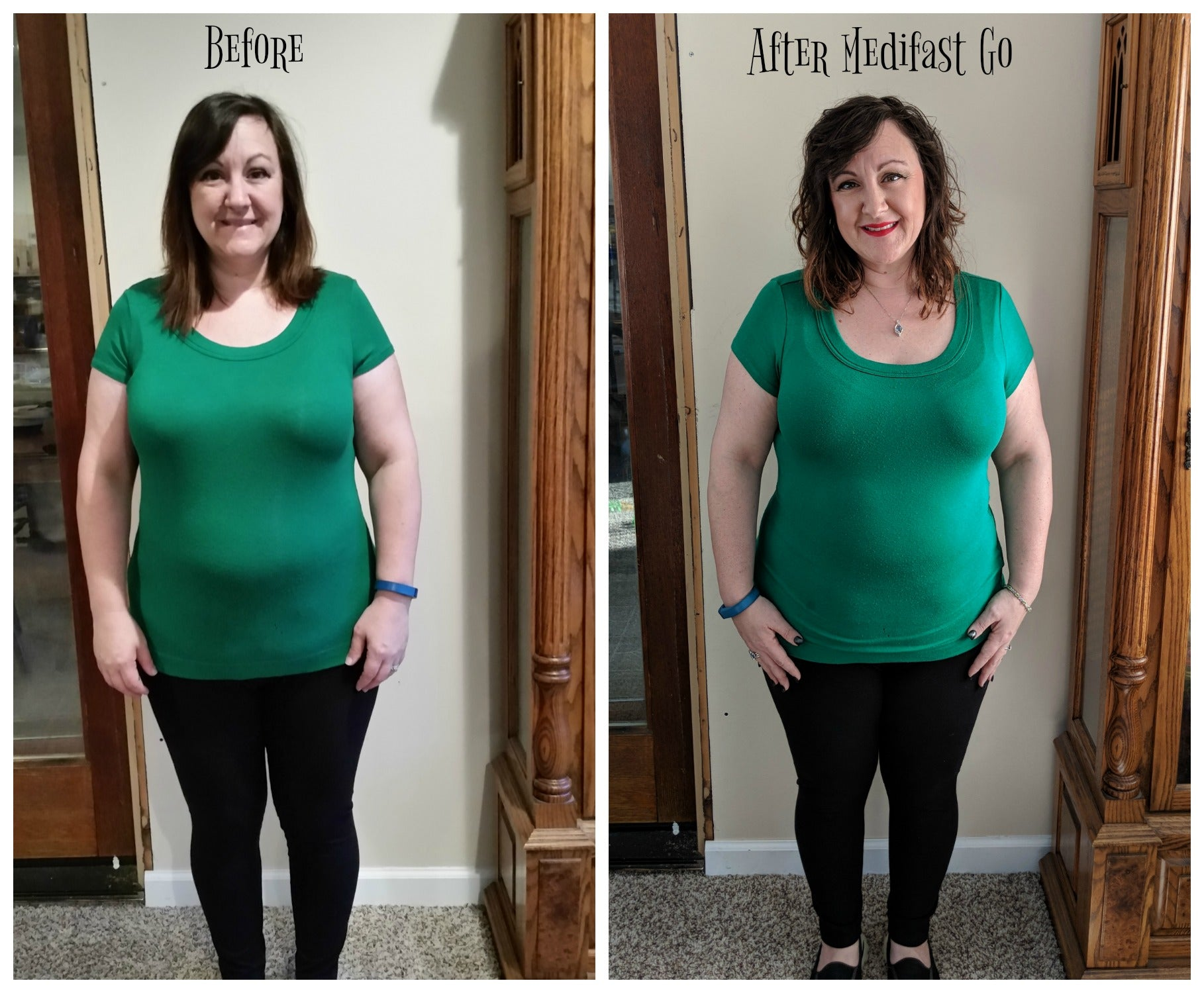 Before and After pics on the Medifast Go program via @agirlsgottaspa. Happy with the inches lost so far! #sponsored #medifast #weightlossjourney #diet