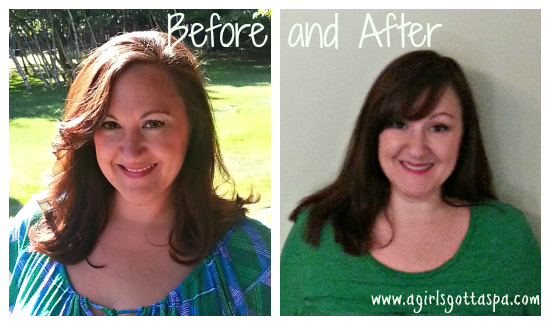 Before and After with eSalon Hair Color