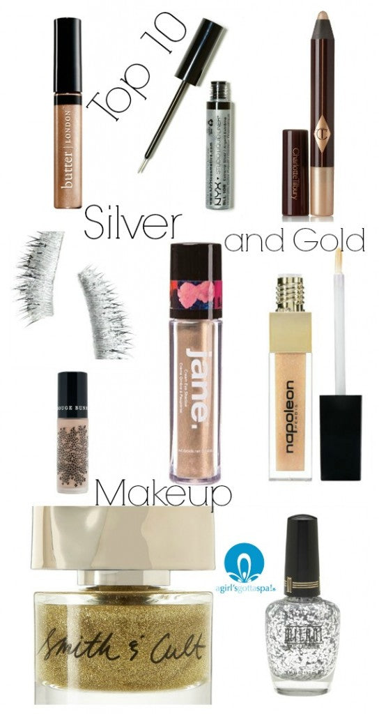 Top 10 Silver and Gold #Makeup via @agirlsgottaspa #beauty
