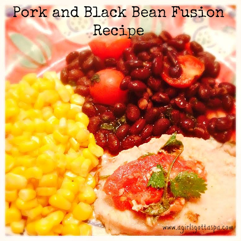 Tomato Herb Stuffed Pork & Black Bean Fusion #recipe #foodie #cooking #howto