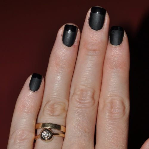 Check out this tutorial for a Matte Black French Mani from @fashionablehousewife via @agirlsgottaspa
