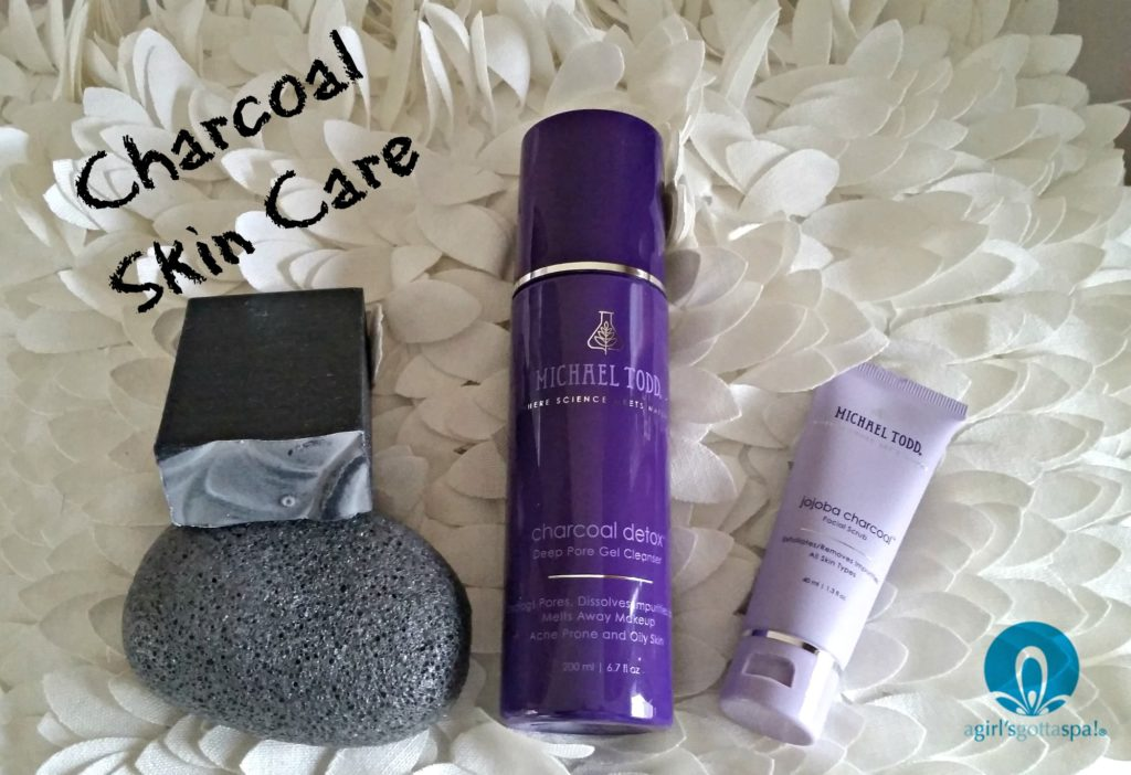 Love these charcoal skin care products for acne prone skin via @agirlsgottaspa