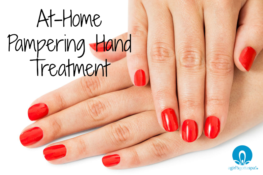 At-home pampering hand treatment for dry, cracked hands via @agirlsgottaspa #DIY #beauty