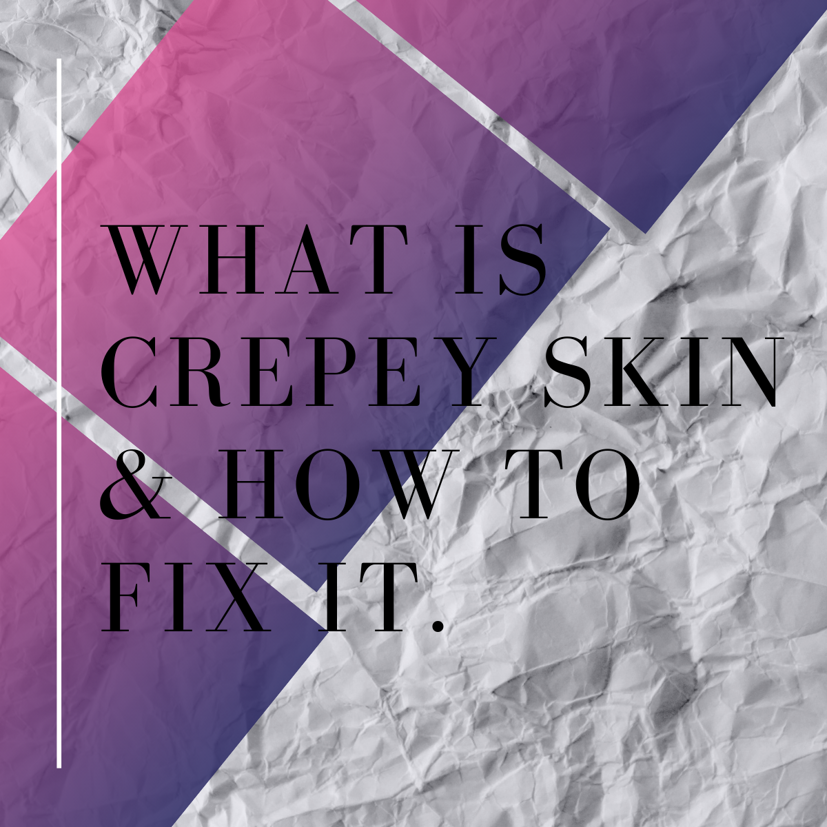 What is crepe skin and how to fix it. #skincare #skincareover40 #skincaretips