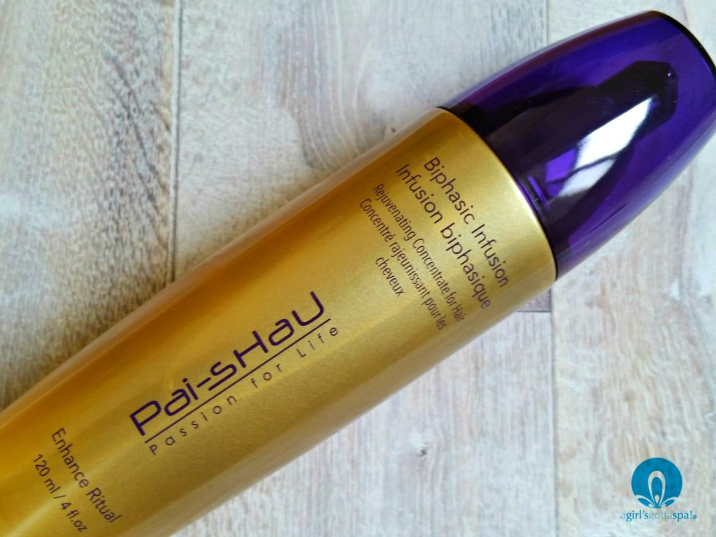 Biphasic Infusion Rejuvenating Concentrate for Hair from Pai-Shau... review of this Enhance Ritual on @agirlsgottaspa