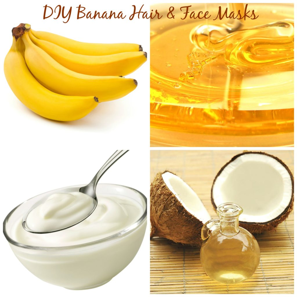 DIY Banana Hair and Face Mask via @agirlsgottaspa #beauty #DIY