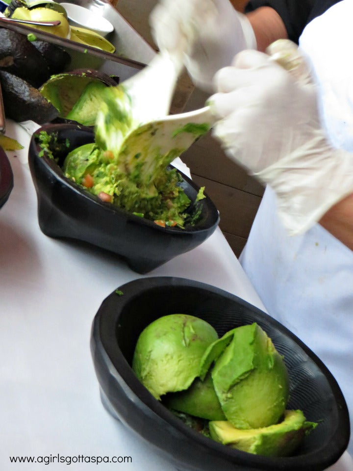 Handmade guacamole at Dos Caminos Atlantic City Harrah's Resort #DoAC