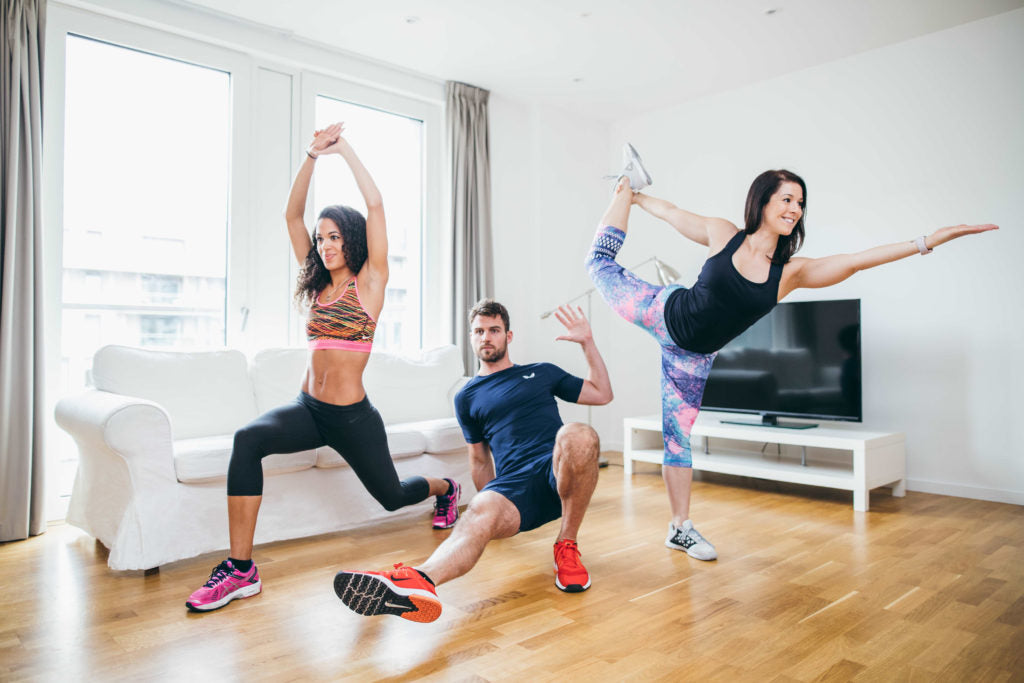 Schedule in an easy (but challenging) workout at home with FlexTV via @agirlsgottaspa