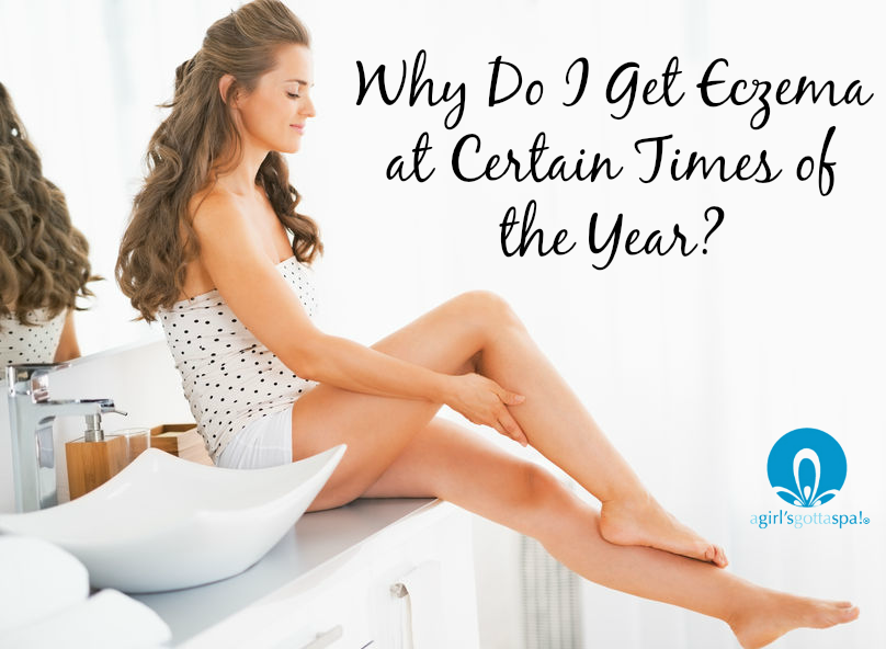 Why Do I Get Eczema at Certain Times of the Year? via @agirlsgottaspa with dermatologists weighing in. Talks about products to use, too!