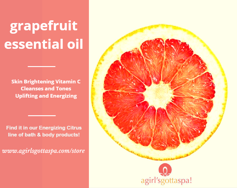 Amazing skin and mood-enhancing benefits of grapefruit essential oil via @agirlsgottaspa