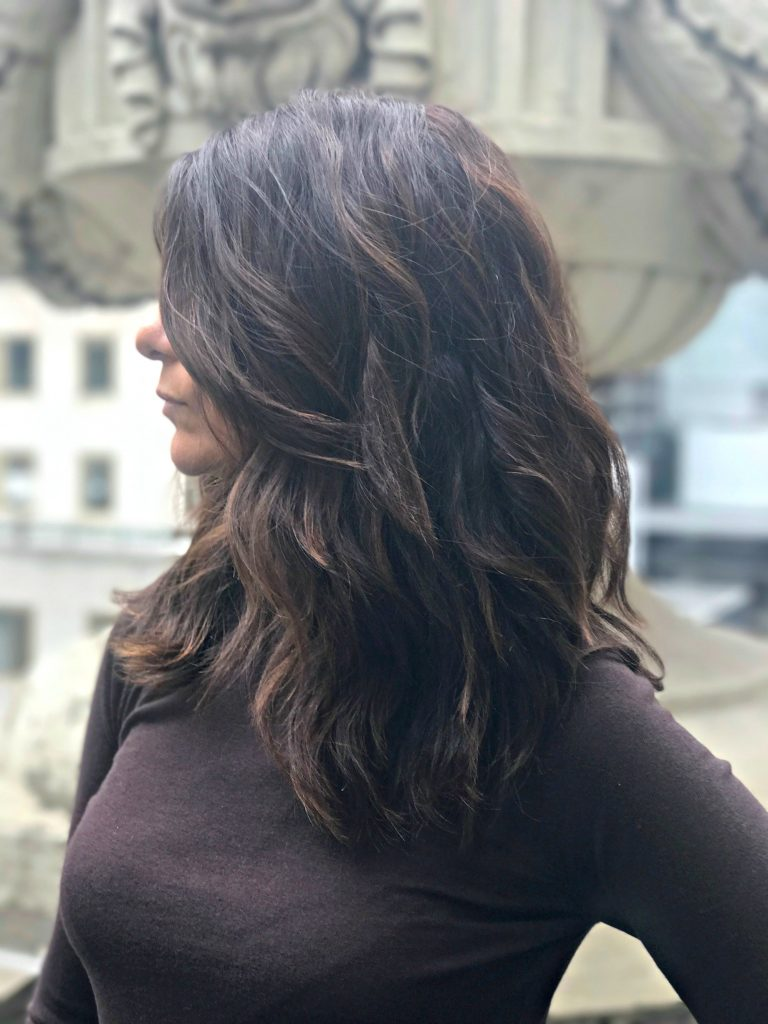 Chocolate hair color for fall via @agirlsgottaspa