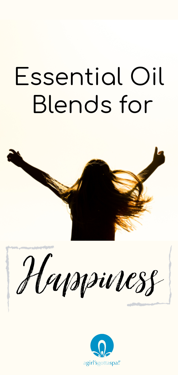 Essential oil blends for happiness. #happiness #essentialoils #wellbeing