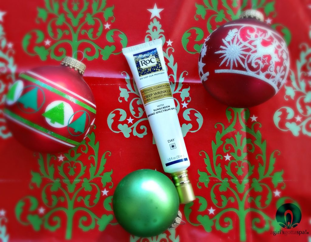 Holiday skin prep with RoC® RETINOL CORREXION® Deep Wrinkle Daily Moisturizer With Sunscreen Broad Spectrum SPF 30 via @agirlsgottaspa #WomenWhoRoc #spon