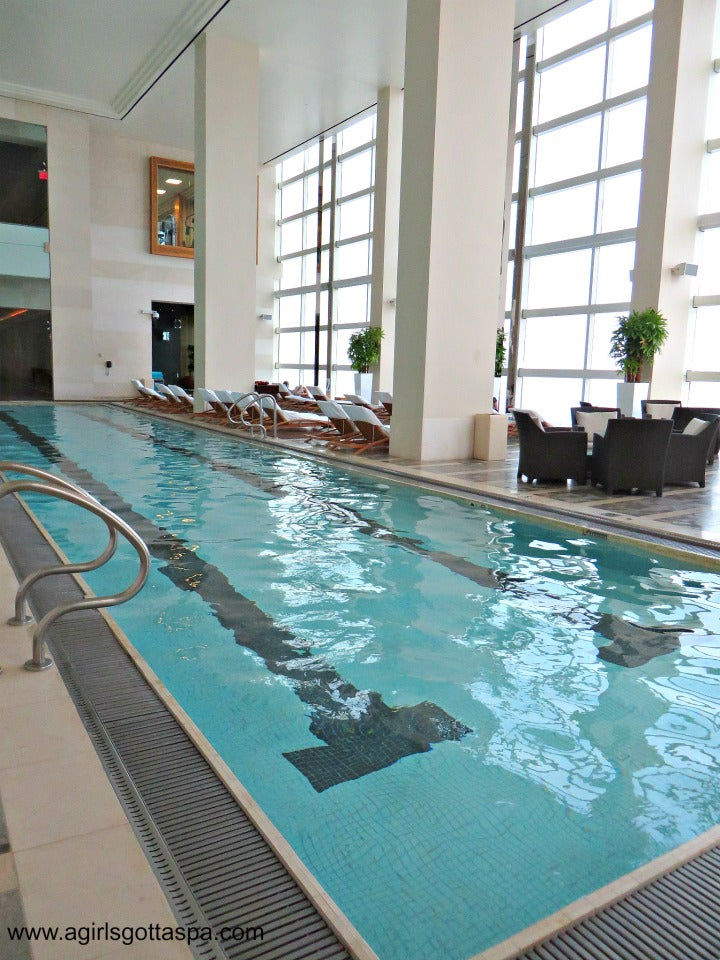 Immersion #Spa Pool with a floor to ceiling view of Atlantic City. #DoAC