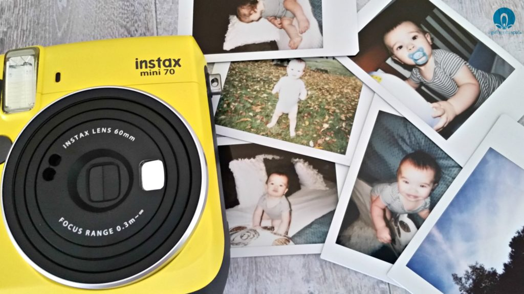 FUJIFILM's INSTAX Mini 70 - new mom must-have via @agirlsgottaspa #babbleboxxmom #sponsored