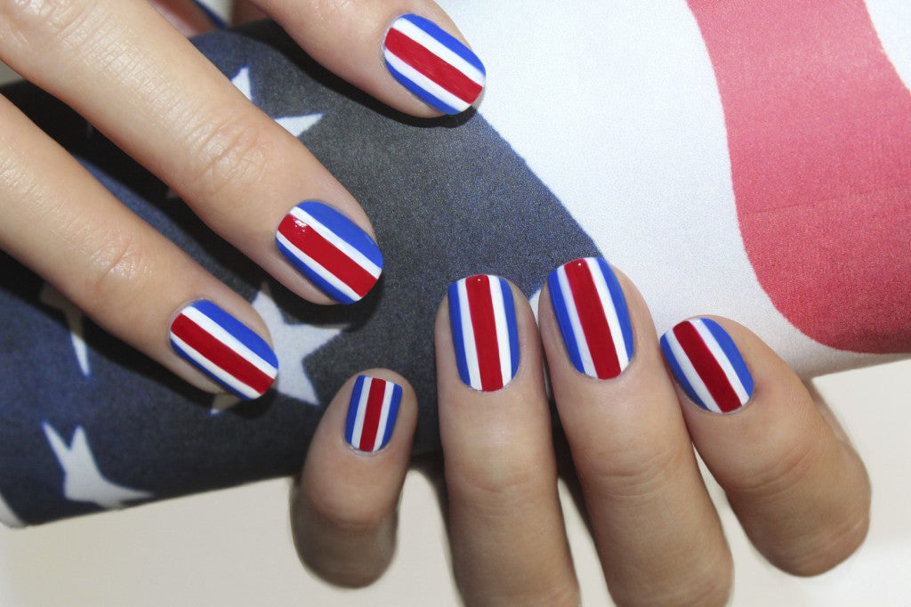 JINsoon Patriotic Nail Art #HowTo