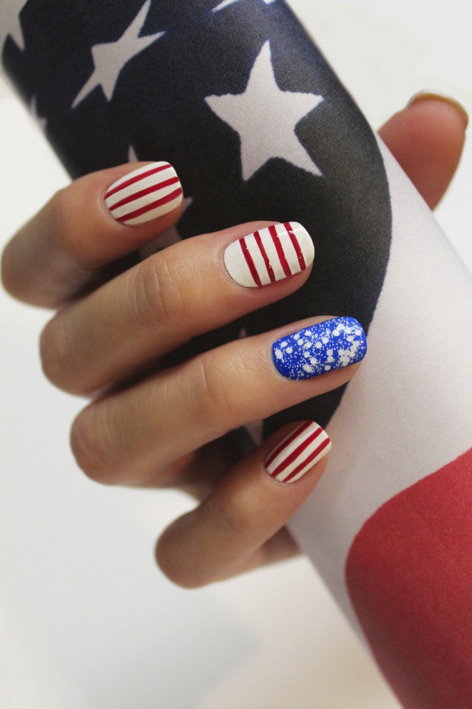 JINsoon Patriotic Nails - Get the look! #nailart