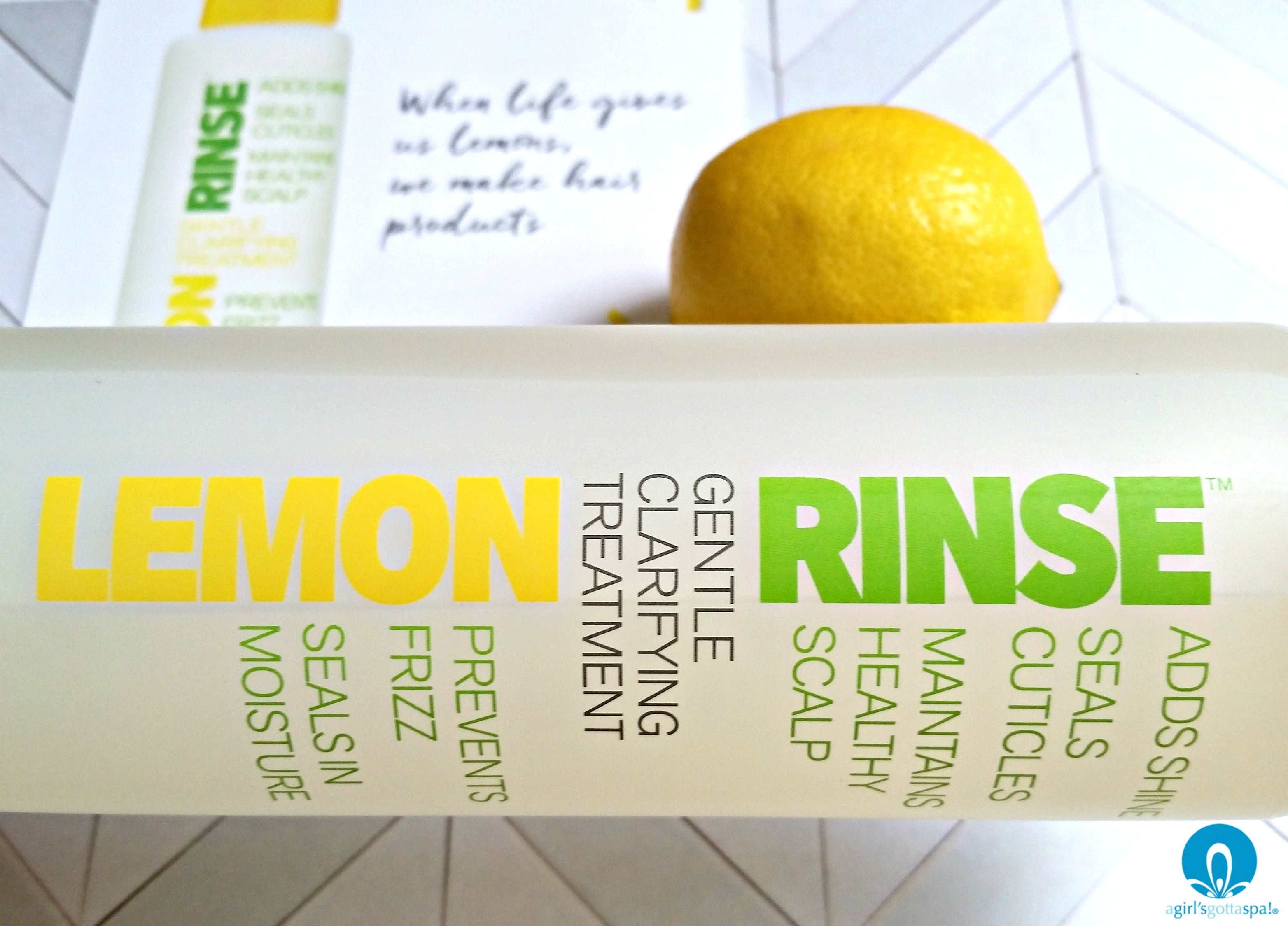 Lemon clarifying rinse from Beautiful Nutrition review via @agirlsgottaspa