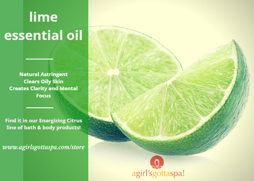 What are the benefits of lime essential oils? via @agirlsgottaspa