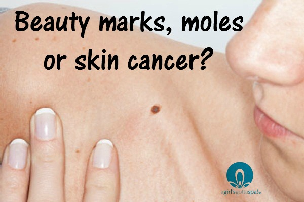 How to tell if it is a beauty mark, mole or skin cancer from leading dermatologists via @agirlsgottaspa #skincancer #melanoma #health #skincare