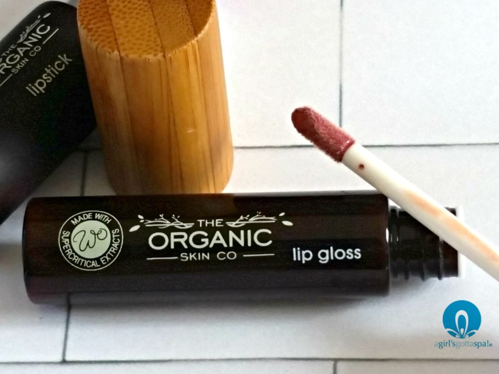 Organic lip gloss from The Organic Skin Co review via @agirlsgottaspa