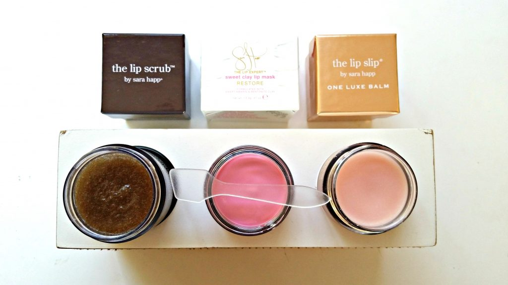 Sara Happ lip scrub, lip mask and lip balm review via @agirlsgottaspa