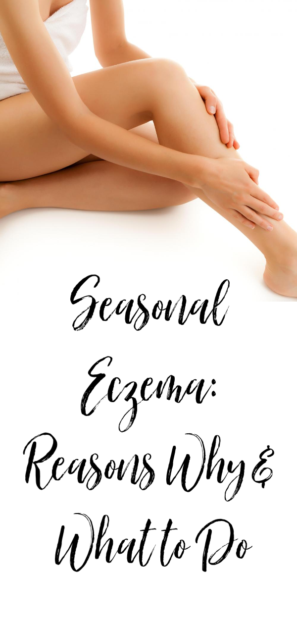 Seasonal eczema - experts weigh in on why this happens and what to do about it. #eczema #skincare