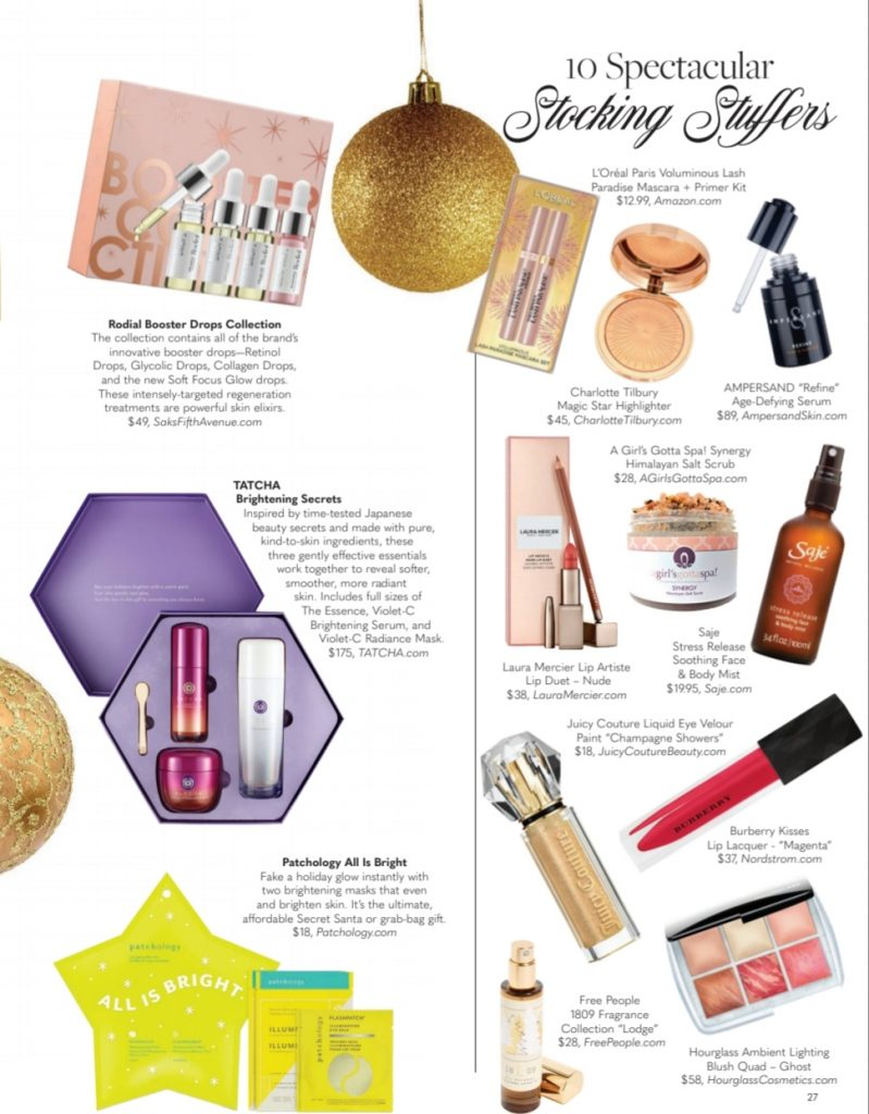 Stocking Stuffer ideas via BELLA Magazine featuring A Girl's Gotta Spa! Synergy Himalayan Salt Scrub