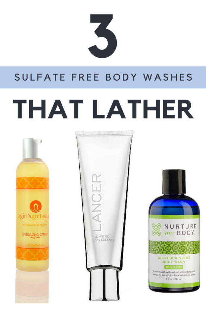 Looking for a sulfate free body wash but still want the bubbles? Take a look at these body washes from @agirlsgottaspa @nurturemybody and Lancer.