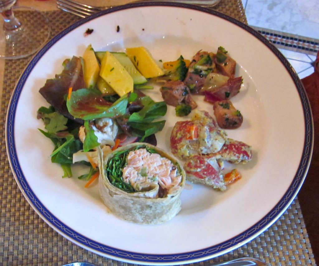 Delicious lunch options in The Oasis at The Spa at the Hotel Hershey