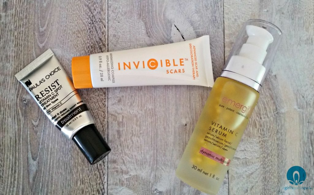 Vitamin C treatments that fade age spots, scars and dark brown spots. @paulaschoice @inviciblescars @emerginc via @agirlsgottaspa