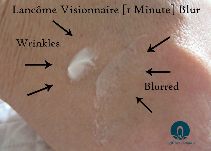 Wrinkles are blurred with Lancôme  Visionnaire Blur #PhotoPerfectSkin @lancomeusa via @agirlsgottaspa #ad
