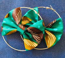 Load image into Gallery viewer, Ankara Bow-Hoop Earrings (Assorted 50pcs)
