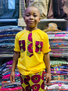 Kids T-Shirt & Ankara Pants Sets (Assorted Dozen)