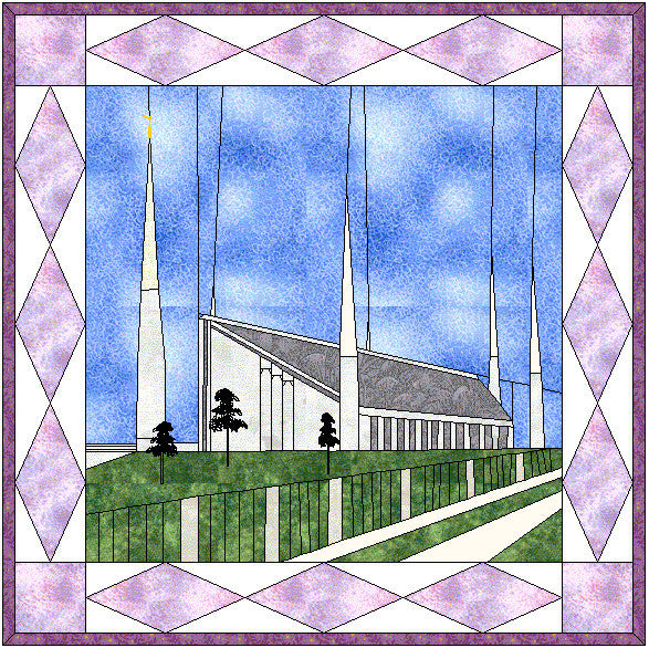 Boise Idaho Temple Hard Copy Pattern