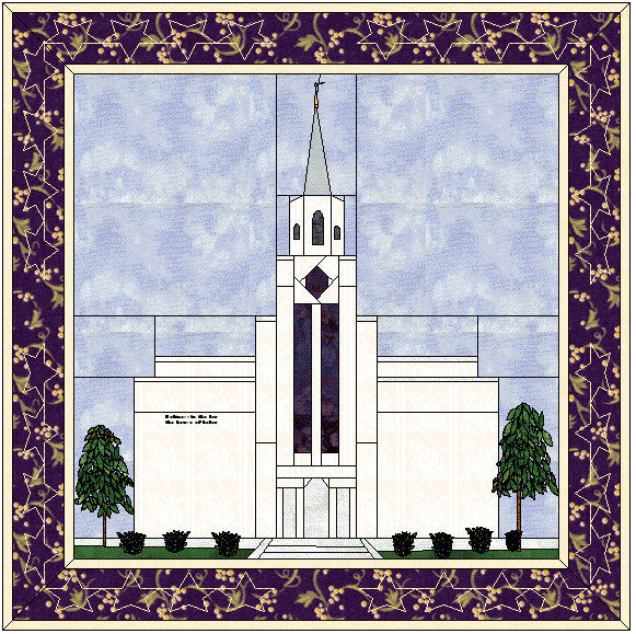 Boston Massachusetts Temple Hard Copy Pattern
