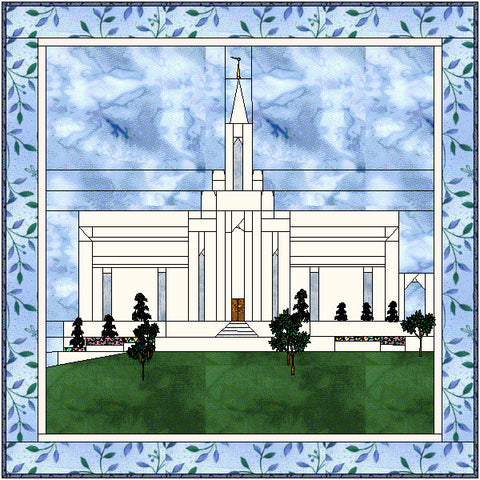 Bountiful Utah Temple Hard Copy Pattern